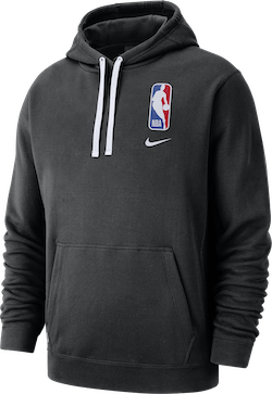 Nba Logo Hoodie Courtside Black