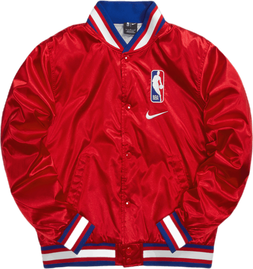 Nba Logo Courtside Jacket University Red/Wolf Grey/White