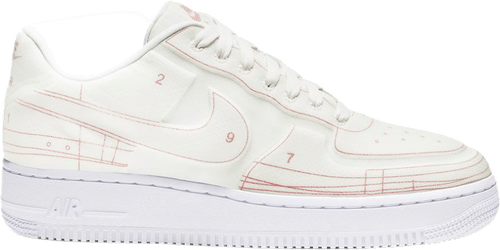 Wmns Air Force 1 '07 Lux - Blueprint Summit White/Summit White-University Red