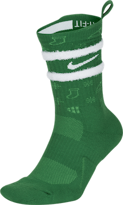 Elite Socks Crew-xmas Green/white
