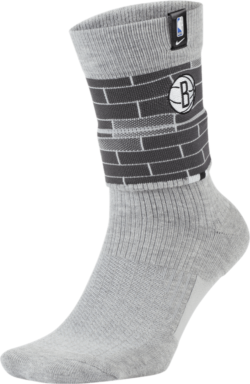Nets Courtside Socks Dk Grey Heather/Charcoal Heathr/White