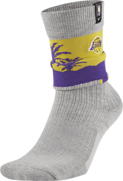 Lakers Courtside Socks Dk Grey Heather/Amarillo/White