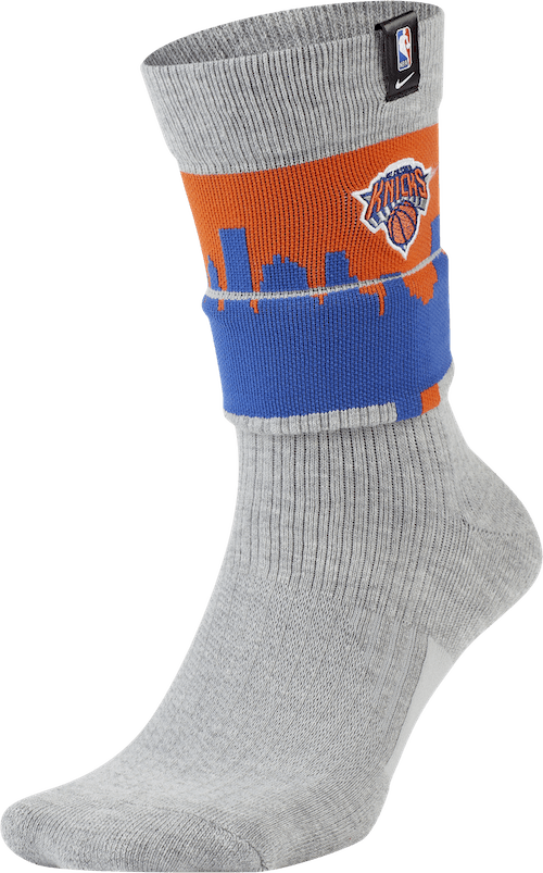 Knicks Courtside Socks Dk Grey Heather/Brilliant Ornge/White