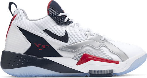 Zoom '92 White/Obsidian-True Red-Metallic Silver