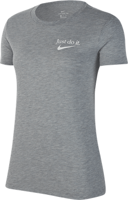 Women Nsw Tee Jdi Dk Grey Heather/White