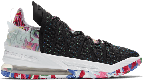Lebron Xviii - James Gang Black/Pink Blast-Multi-Color
