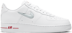 Air Force 1 Jewel White/Pure Platinum-University Red