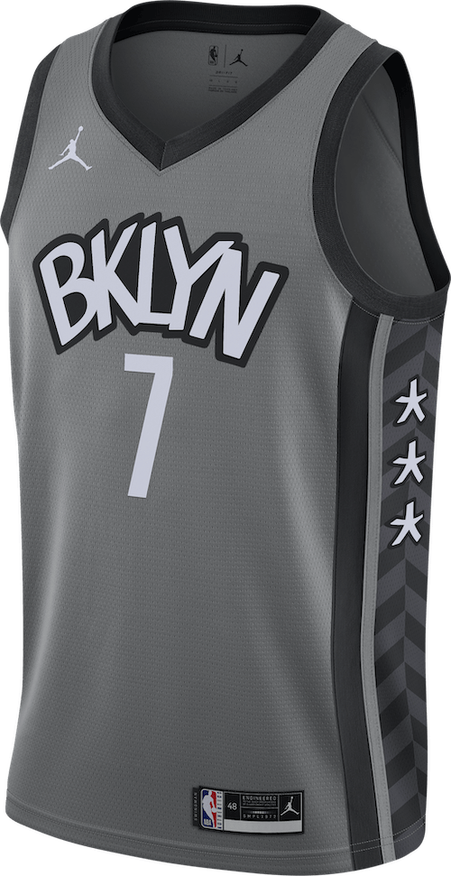 Nets Statement Edition 2020 Durant Dark Steel Grey/Black/Durant Kevin