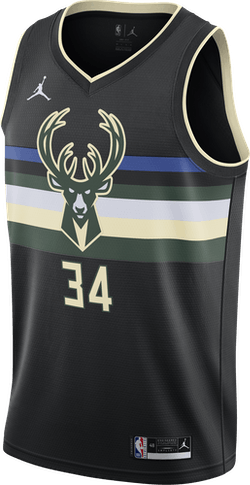 Bucks Statement Edition 2020 Giannis Black/Antetokounmpo G