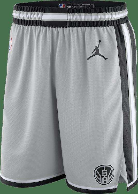 Spurs Statement Edition 2020 Shorts Flt Silver/Black/White/Black