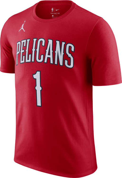 Pelicans Statement Edition Tee Zion University Red/Williamson Zion