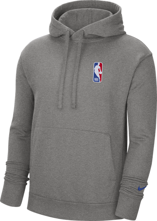 Nba Logo Hoodie Dk Grey Heather/Rush Blue
