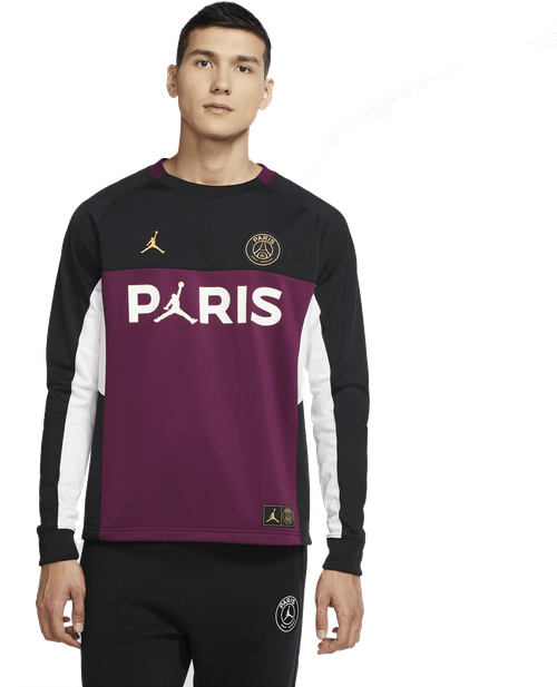 Jordan X Psg Longsleeve Top Black/Bordeaux/White/Metallic Gold
