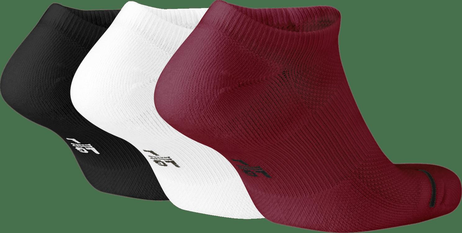 Everyday Max 3Pr No-Show Socks Black/White/Gym Red