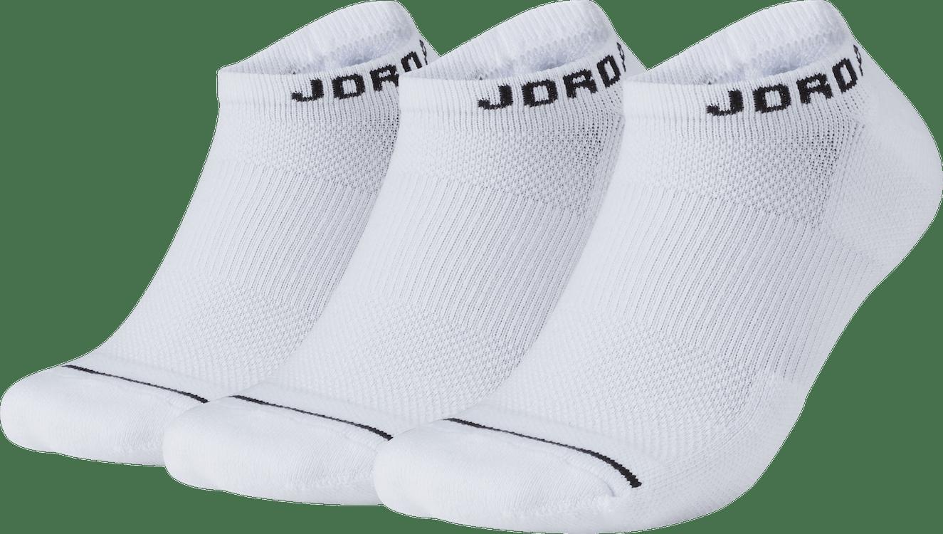 Jumpman No-Show Socks White/White/White/Black