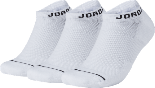 Jumpman No-Show Socks White/White/White/Black