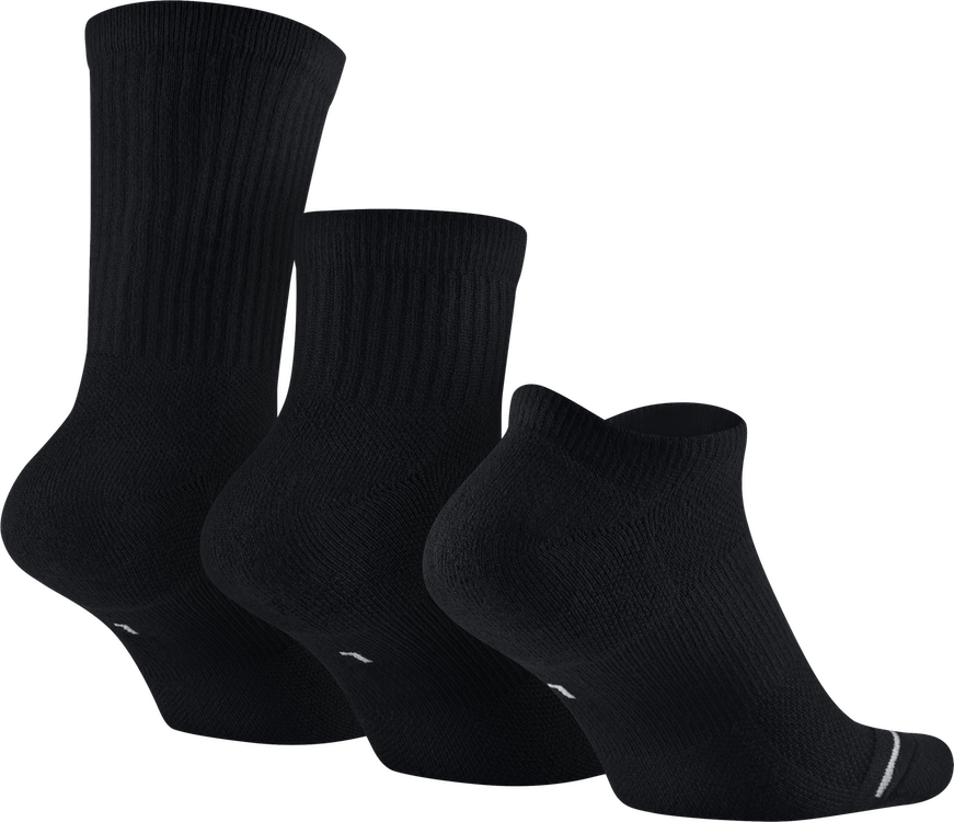 Unisex Waterfall Socks Black/Black/Black