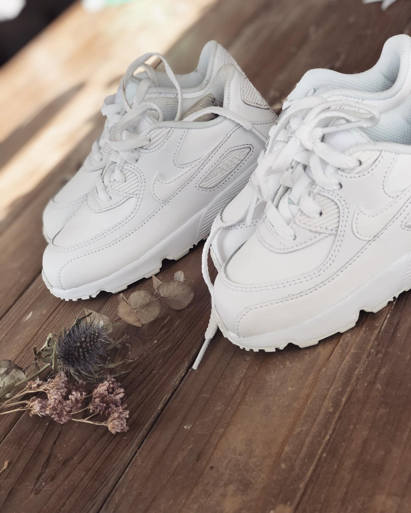 Kjøp Nike Air Max 90 Leather WhiteWhite sko Online | FOOTWAY.no